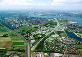 Aerial view of Ebbsfleet valley.