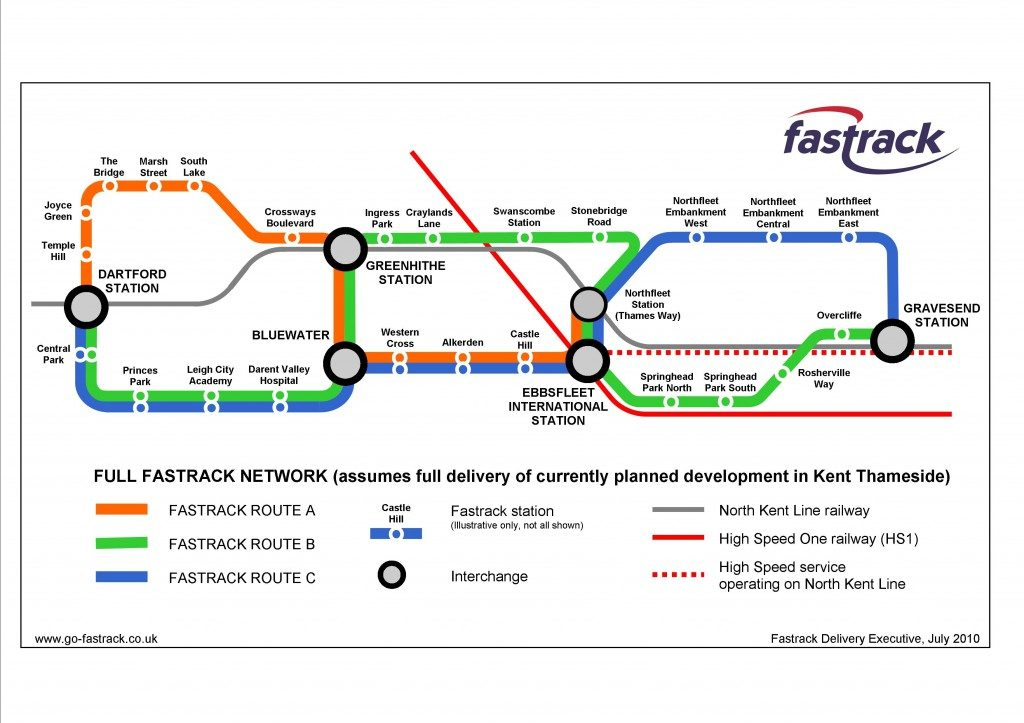 Fastrack network map